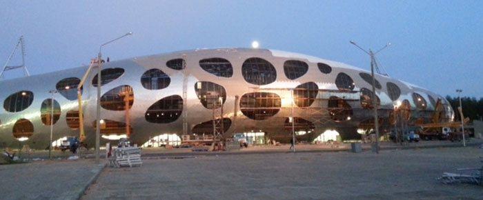 Die Arena von BATE Borisov, Wei�russland